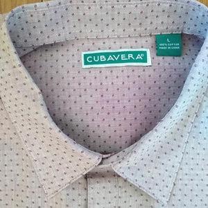 Cubavera Long Sleeve Button Up Shirt Polka Dot
